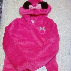 Disney pink soft hooded minnie mouse pullover